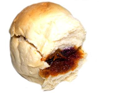 【フリアンパン】花木流通センターにて 味噌&ブルベリーパン。